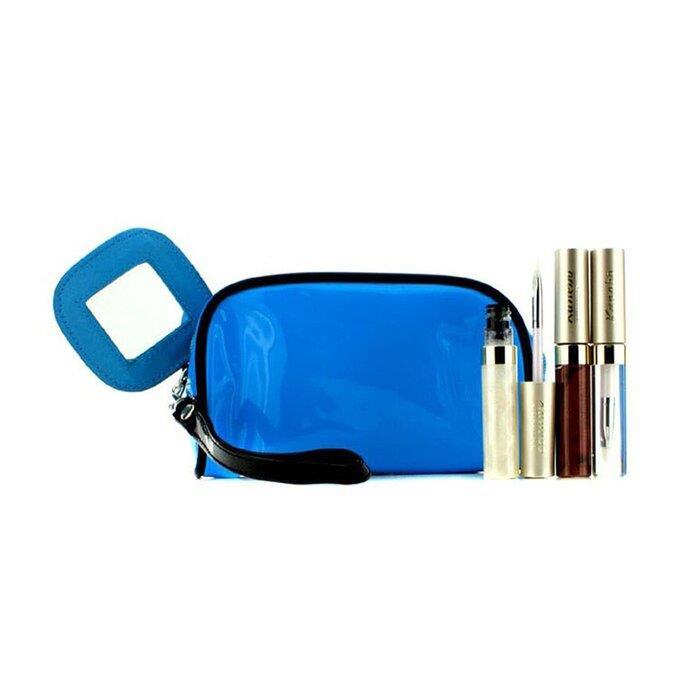 リップグロスセット With ブルーコスメバッグ 3品入り+1バッグ