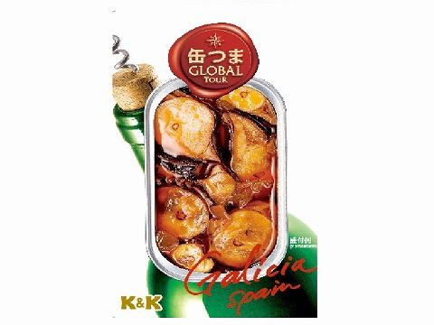 K&K 缶つまGlobalTour いかのガリシアソース x5