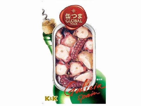 K&K 缶つまGlobalTour たこのオリーブオイル x5