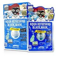 3ステップ ブラックシートマスク - アクアリフレッシング 10x25g/0.83oz